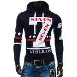 Slim-Fit 7 Printed Hoodie - CADETBLUE