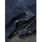 Buy Distressed Design Bleach Wash Straight Leg Jeans BLUE