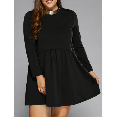 Long Sleeve Ruffled A-Line Dress