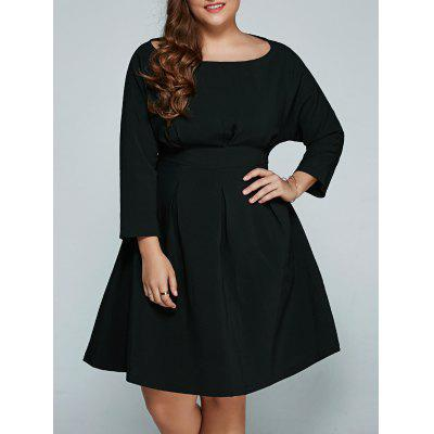 Plus Size Empire Waisted Flare Dress
