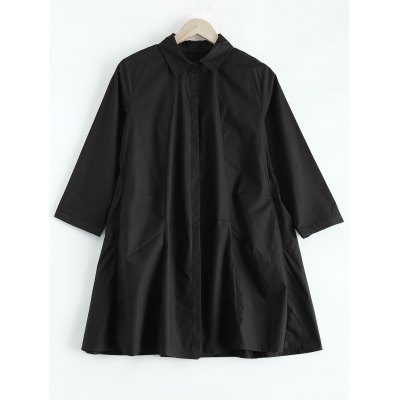 Streetwear Pocket Plus Size Shirt