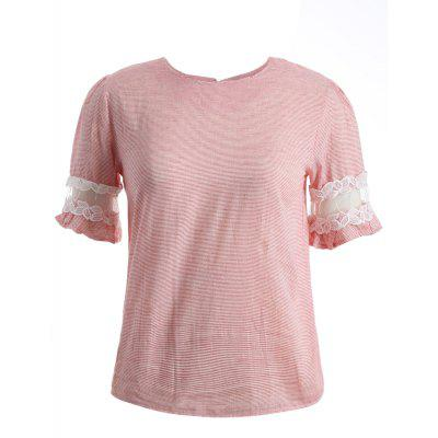 Pink Striped T Shirt