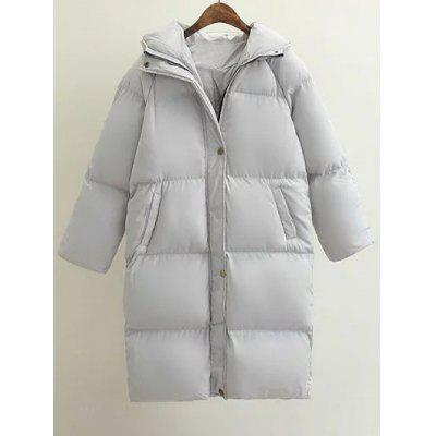 Cocoon Puffer Long Coat