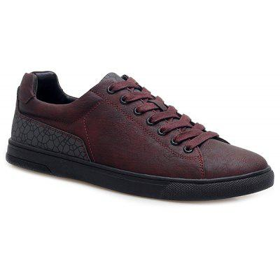 Lace-Up Color Block Casual Shoes