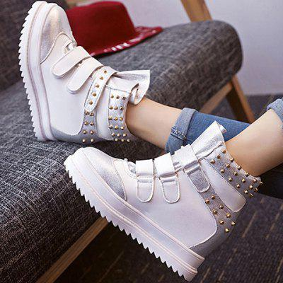 Hook and Loop Rivet Ankle Boots