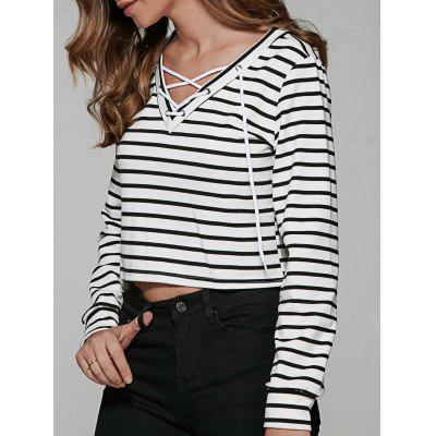 Striped White T Shirt