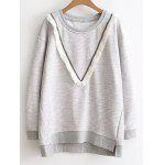 Gesäumt Color Block Sweatshirt - GRAU