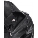 PU Epaulet Biker Short Jacket deal