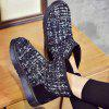 Buy Color Block Splicing Flat Heel Snow Boots 37 BLUE AND BLACK