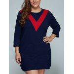 Buy RED, Apparel, Women's Clothing, Plus Size, Plus Size Dresses for $37.34 in GearBest store