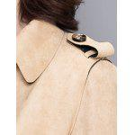Floral Applique Suede Trench Coat photo