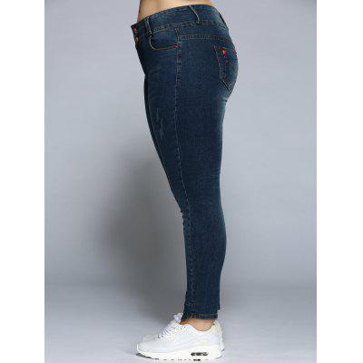 Pencil Plus Size Skinny JeansPlus Size Bottoms<br>Pencil Plus Size Skinny Jeans<br><br>Closure Type: Button Fly<br>Fit Type: Skinny<br>Length: Normal<br>Material: Spandex<br>Package Contents: 1 x Jeans<br>Pant Style: Pencil Pants<br>Pattern Type: Patchwork<br>Style: Casual<br>Waist Type: Mid<br>Weight: 0.470kg