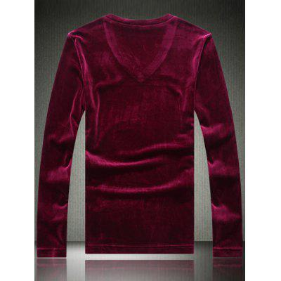 Plus Size Velvet Applique V-Neck Long Sleeve T-ShirtPlus Size Tops<br>Plus Size Velvet Applique V-Neck Long Sleeve T-Shirt<br><br>Collar: V-Neck<br>Embellishment: Appliques<br>Material: Polyester, Cotton<br>Package Contents: 1 x T-Shirt<br>Pattern Type: Solid<br>Season: Spring, Fall<br>Sleeve Length: Full<br>Style: Fashion<br>Weight: 0.350kg