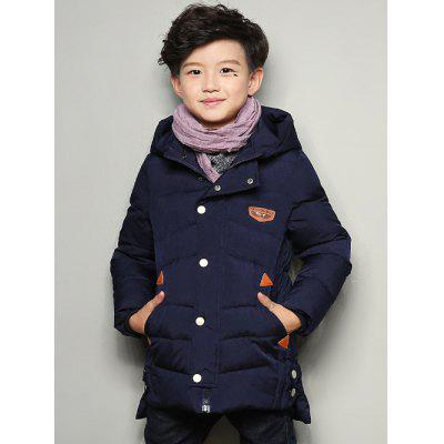 Snap Buttoned Hooded Warm Padded Coat