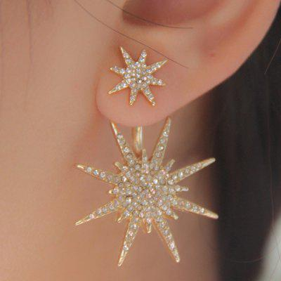 1PC strass Double Star Orecchini