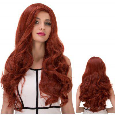 Long Wavy Side Parting Colormix Synthetic Wig