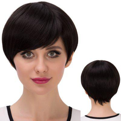 Short Bob Straight Inclined Bang Synthetic Wig