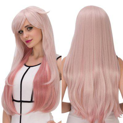 Buy COLORMIX Long Side Bang Layered Tail Adduction Double Color Cosplay Synthetic Wig for $27.65 in GearBest store