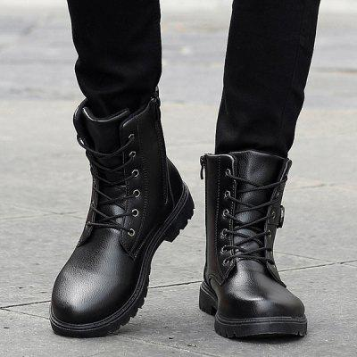 """Buckle Strap Zipper Tie Up BootsMens Boots<br>Buckle Strap Zipper Tie Up Boots<br><br>Boot Height: Ankle<br>Boot Type: Fashion Boots<br>Closure Type: Zip<br>Embellishment: Buckle<br>Gender: For Men<br>Heel Hight: Low(0.75""""-1.5"""")<br>Heel Type: Flat Heel<br>Outsole Material: Rubber<br>Package Contents: 1 x Boots (pair)<br>Pattern Type: Solid<br>Season: Spring/Fall, Winter<br>Shoe Width: Medium(B/M)<br>Toe Shape: Round Toe<br>Upper Material: PU<br>Weight: 1.120kg"""