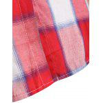 best Plus Size Asymmetrical Plaid Shirt