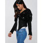 Hollow Out Sequined Short Hand-Knitted Mohair Cardigan deal