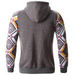 Geometric Print Splicing Raglan Sleeve Hoodie deal