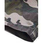 Plus Size Camouflage Straight Leg Multi-Pocket design - KAKI