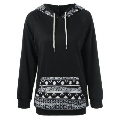 Pocket Simple Tribal Hoodie Garniture