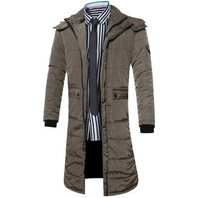 Allonger capuche poches Manteau Zip-Up Down