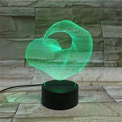 LED Touching Ox Horn Shape 3D Colorful Visual Night Light