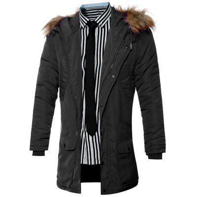 Furry Hood Pocket Zip Up Padded CoatMens Jackets &amp; Coats<br>Furry Hood Pocket Zip Up Padded Coat<br><br>Clothes Type: Padded<br>Collar: Hooded<br>Material: Cotton, Down, Faux Fur, Polyester<br>Package Contents: 1 x Coat<br>Season: Winter<br>Shirt Length: Long<br>Sleeve Length: Long Sleeves<br>Style: Fashion<br>Weight: 0.765kg