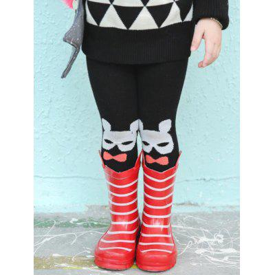 Cartoon Printed Footed Leggings
