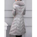 cheap Fur Collar PU Leather Quilted Coat