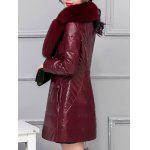 best Fur Collar Fake Leather Padded Coat