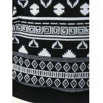 Pocket Simple Tribal Hoodie Garniture - NOIR