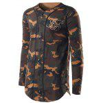 cheap V-Neck Camouflage Sweatshirt