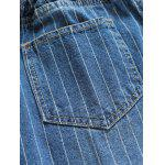 Coulisse strappato righe Jeans - BLU