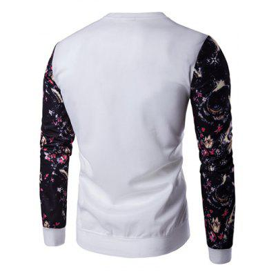 Floral Sleeve Animal Embroidery SweatshirtMens Hoodies &amp; Sweatshirts<br>Floral Sleeve Animal Embroidery Sweatshirt<br><br>Material: Cotton, Polyester<br>Package Contents: 1 x Sweatshirt<br>Shirt Length: Regular<br>Sleeve Length: Full<br>Style: Casual<br>Weight: 0.450kg