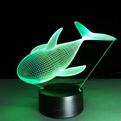 Colorful 3D forma Visuale delfino LED Night Light