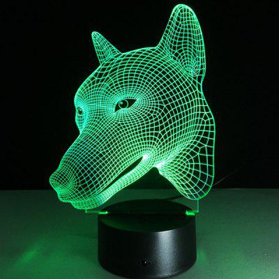 3D Visual Color Changing Dog Shape Touching Night Light