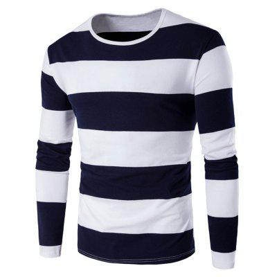 Buy CADETBLUE Long Sleeve Stripe T-Shirt for $7.46 in GearBest store