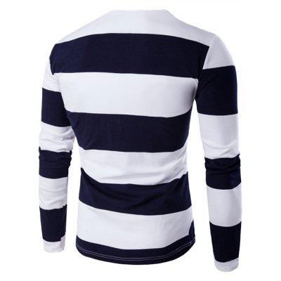 Long Sleeve Stripe T-ShirtMens Long Sleeves Tees<br>Long Sleeve Stripe T-Shirt<br><br>Collar: Round Neck<br>Material: Cotton Blends<br>Package Contents: 1 x T-Shirt<br>Pattern Type: Striped<br>Season: Fall, Spring<br>Sleeve Length: Full<br>Style: Active, Casual<br>Weight: 0.3000kg