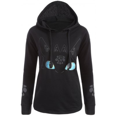 Cartoon Character Unicorn Graphic Hoodie