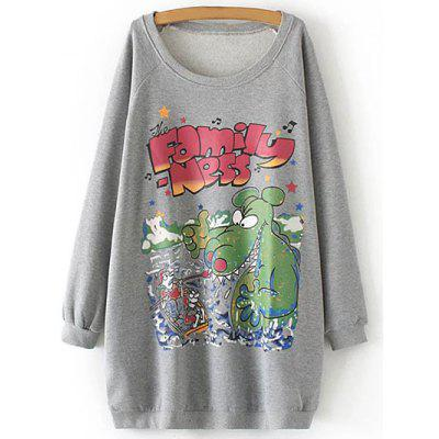 Fleece Graphic Long Sweatshirt