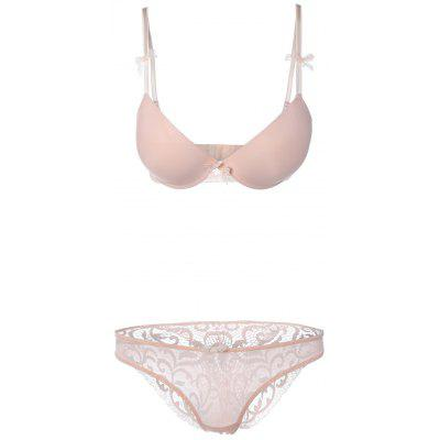 Seamless Lace Splicing Bra Set