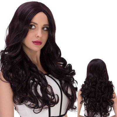 Long Cute Centre Parting Wavy Synthetic Wig