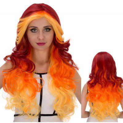 Long Side Bang Wavy Intense Cosplay Synthetic Wig
