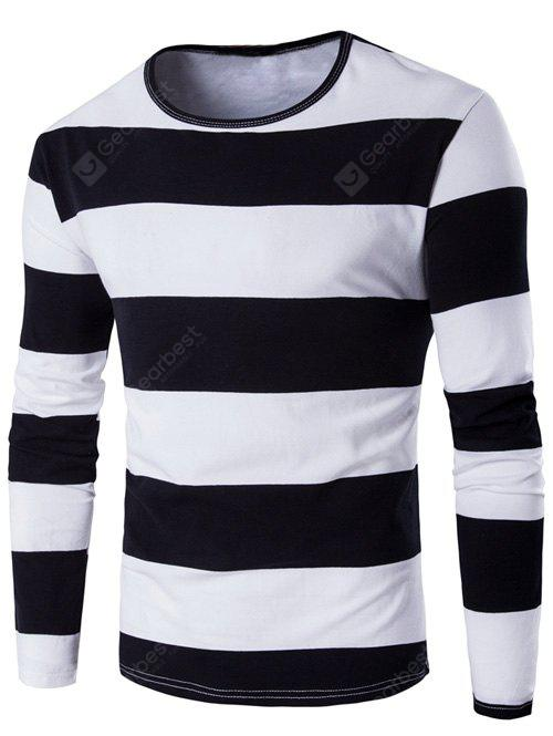 BLACK Long Sleeve Stripe T-Shirt