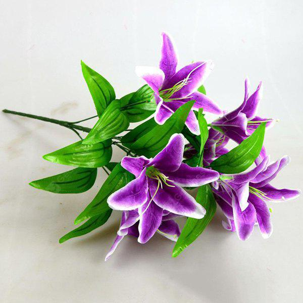Silk Flower Real Touch Artificial Lily Branch Decoration