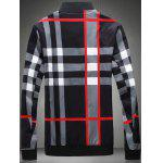 cheap Color Block Checked Print Zip-Up Jacket